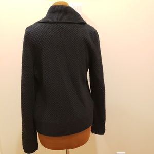Aqua Sweaters - AQUA Shawl Collar Black Knit Cardigan